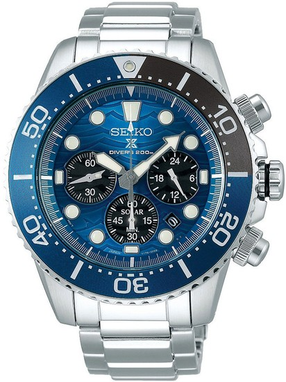 SEIKO PROSPEX SEA SOLAR DIVERS SSC741P1 SAVE THE OCEAN GREAT WHITE SHARK SPECIAL EDITION